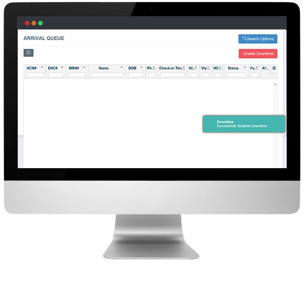 Patient Check-in & Registration Desktop