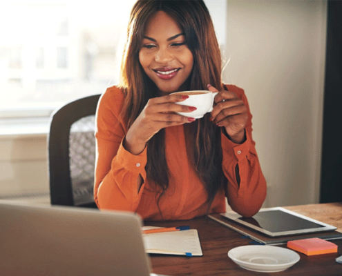 Woman-Working-with-Coffee@